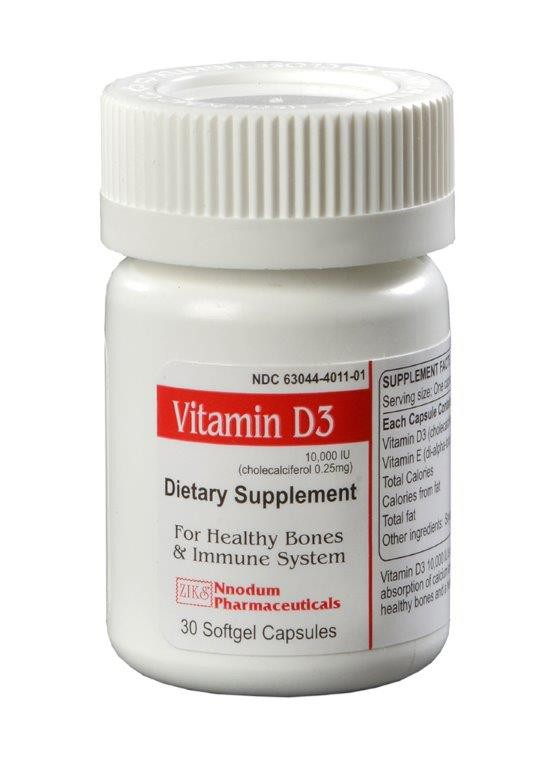Vitamin D3 10,000 IU (cholecalciferol 0.25 mg)